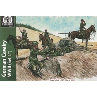 Waterloo 1/72 German SS Cavalry WWII. 12 figures and 6 horses Plastic Model Kit