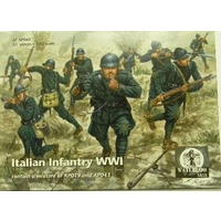 Waterloo 1/72 Italian Infantry WWI 51 FIGURES. Plastic Model Kit