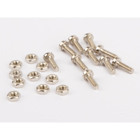 Wilesco 01542 Screws And Nuts M2. Each 10 Pc.. Nickel Plated