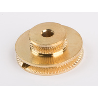 Wilesco 1637 Twin Groovedpulley 25 Mm. Polishedbrass