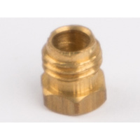 Wilesco 1828 Pipe Coupling Nut For Steam Pipe Fixing. Brass. M6X0.75