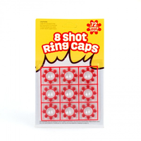 8 Shot Ring Caps -72 Shots per card Z1000