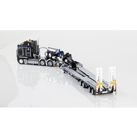 Drake 1/50 Kenworth K200 Prime Mover With Drake 2x8 Dolly And 4x8 Dragline Bucket Trailer Gloss Black Diecast