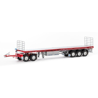 Drake 1/50 MaxiTRANS Road Train Set - Red/Silver Diecast