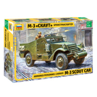 Zvezda 3519 1/35 M-3 Armored Scout Car Plastic Model Kit