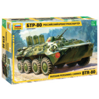 Zvezda 3558 1/35 BTR-80 Russian Pers. Carrier Plastic Model Kit