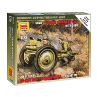 Zvezda 6145 1/72 Soviet 76-mm Gun Plastic Model Kit