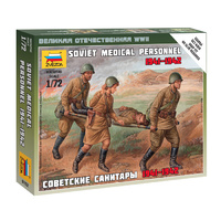 Zvezda 6152 1/72 Soviet Medical Personnel 1941-42 Plastic Model Kit
