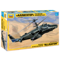 "Zvezda 7224 1/72 Kamov Ka-52 ""Alligator"" Combat Helicopter Plastic Model Kit"
