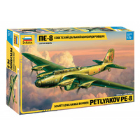 Zvezda 7264 1/72 Pe-8 Soviet Long-Range Heavy Bomber WWII Plastic Model Kit