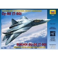 Zvezda 7275 1/72 Sukhoi T-50 Russian Stealth Fighter Plastic Model Kit