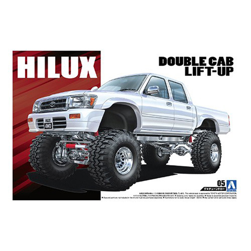 Aoshima 1/24 LN107 Hilux Pickup Double Cab 94 005097 Plastic Model Kit
