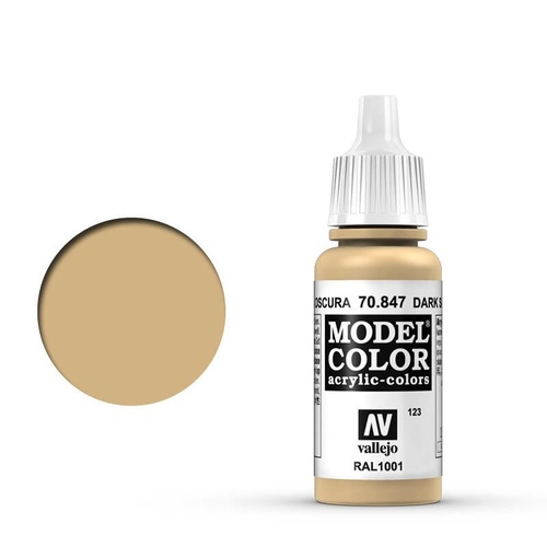 Vallejo 70847 Model Colour #123 Dark Sand 17 ml Acrylic Paint