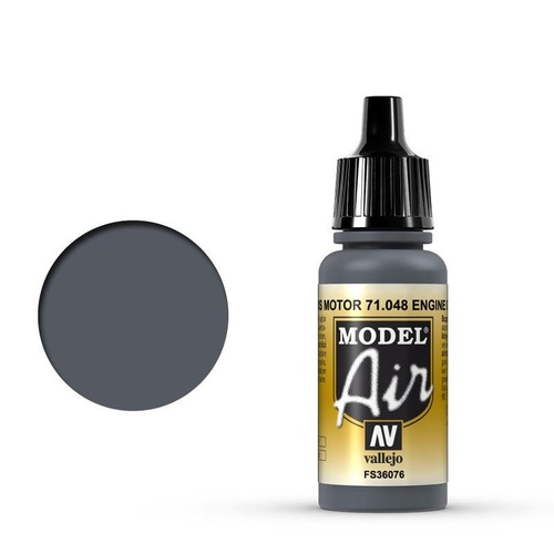 Vallejo Model Air Engine Gray 17 ml Acrylic Airbrush Paint