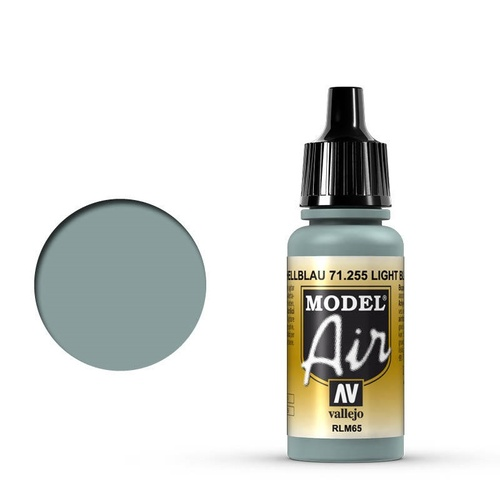 Vallejo 71255 Model Air Light Blue RLM65 17 ml Acrylic Airbrush Paint