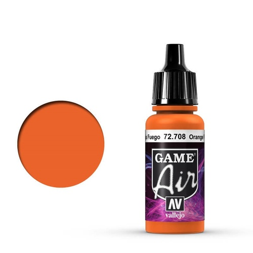 Vallejo Game Air Orange Fire 17 ml Acrylic Airbrush Paint