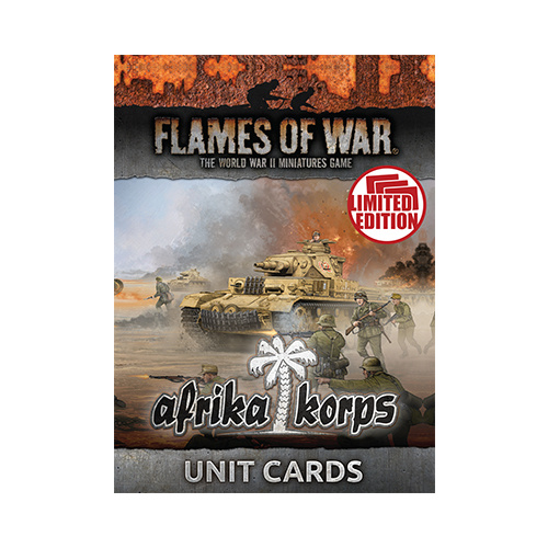 Flames of War Afrika Korps Unit Cards (Ltd Run) FW242U