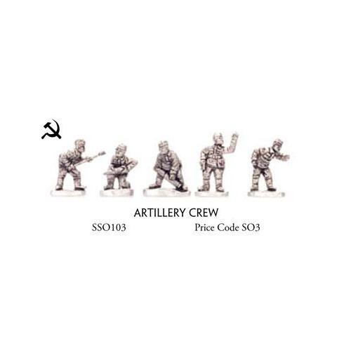Flames of War 1/100 Artillery Crew SSO103