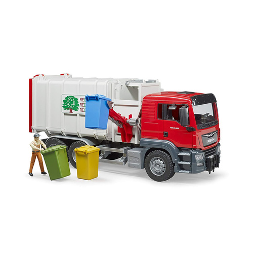 Bruder 1/16 Man TGS Side Loading Garbage Truck 03761