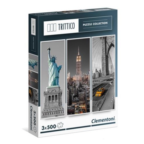 Clementoni 3x 500pc New York Puzzle 39305