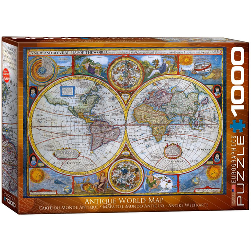 Eurographics 1000pc Antique World Map