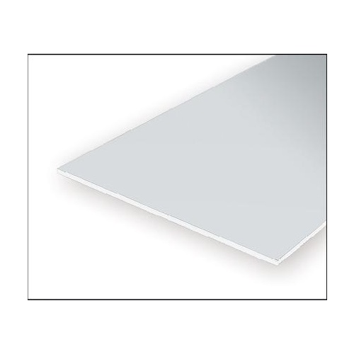 "Evergreen White Polystyrene Board & Batten Sheet 0.100 x 12 x 24"" / 2.5mm x 30cm x 61cm (1)"