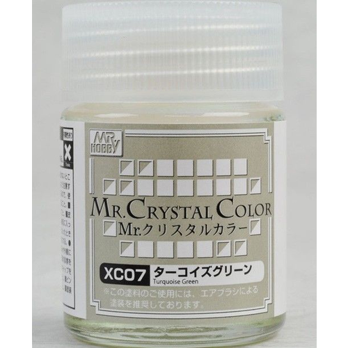 Gunze Lacquer Mr. Crystal Colour Turqoise Green