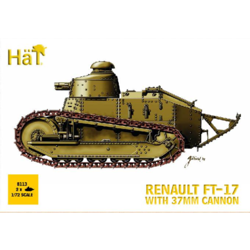HAT 1/72 FT-17 Renault With 37mm Cannon HAT8113