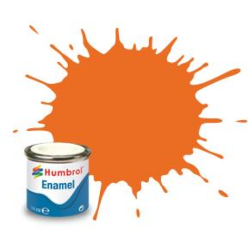 Humbrol Enamel 18 Orange Gloss 14mL Paint