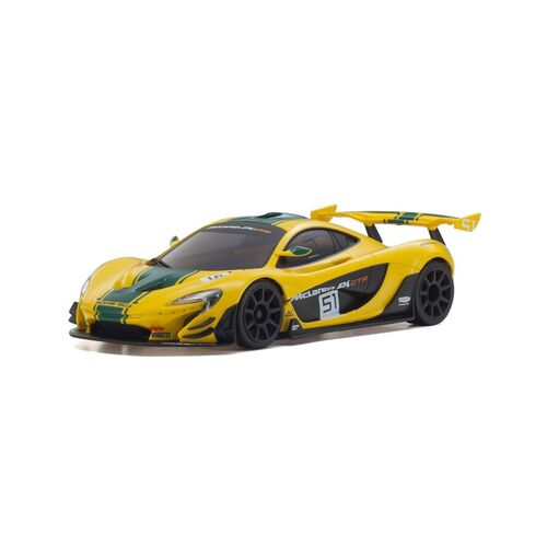 Kyosho MINI-Z RWD McLaren P1 GTR Yellow/Green Readyset RTR 32324YG
