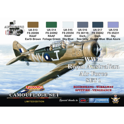 LifeColor WWII RAAF Camouflage Set 1 LC-XS01