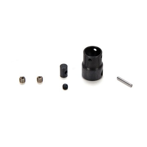 Losi Center Drive Shaft CV Yoke, Coupler, Hdwe: NCR, LOSB3582