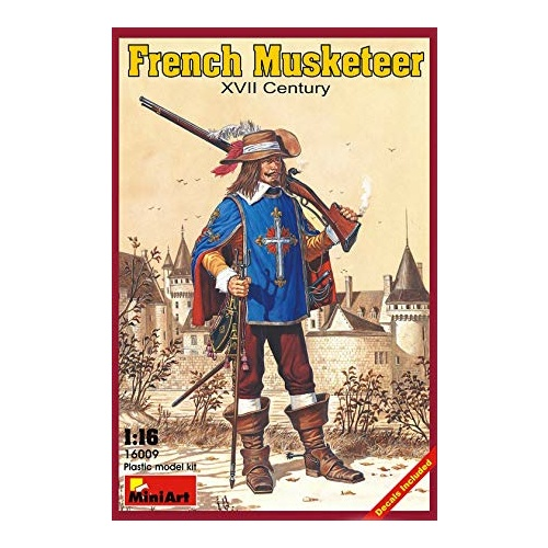 Miniart 1/16 French Musketeer. XVII c. 16009 Plastic Model Kit