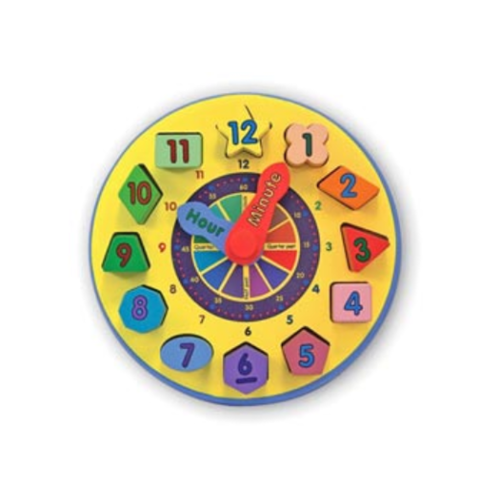 Melissa & Doug Shape Sorting Clock MND159