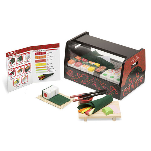 Melissa & Doug - Roll Wrap & Slice Sushi Counter
