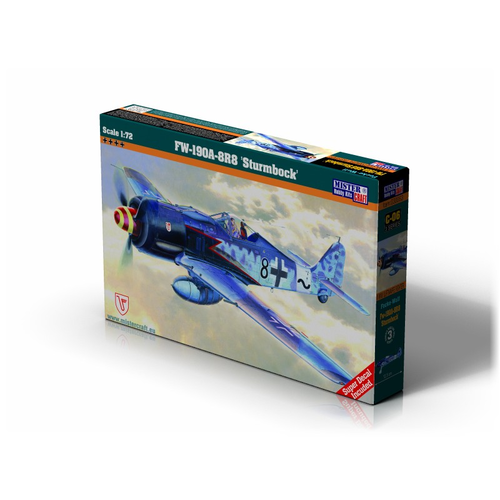 Mistercraft 1/72 Fw-190A8R8 Sturmbock Plastic Model Kit C-06