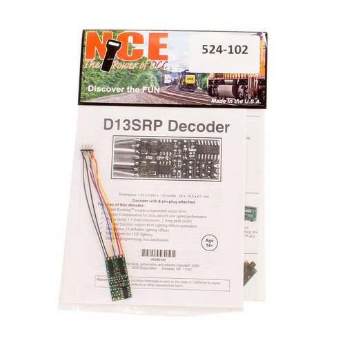 NCE Decoder D13srp NCE-102