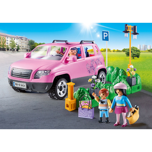 Playmobil - Family Car with Parking Space 9404