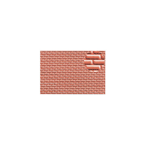 AMRI 4mm Brick Red 300x174mm